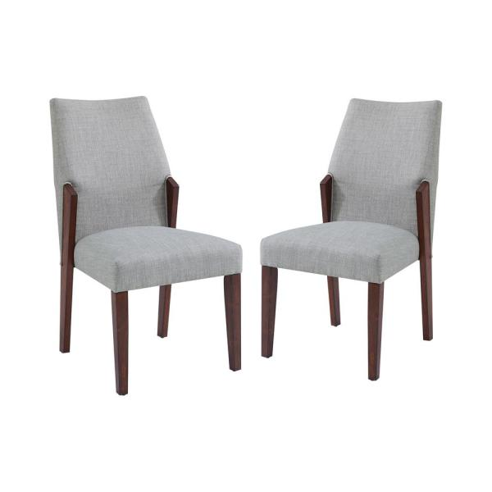 Klaudie Light Gray Side Chairs (Set of 2)