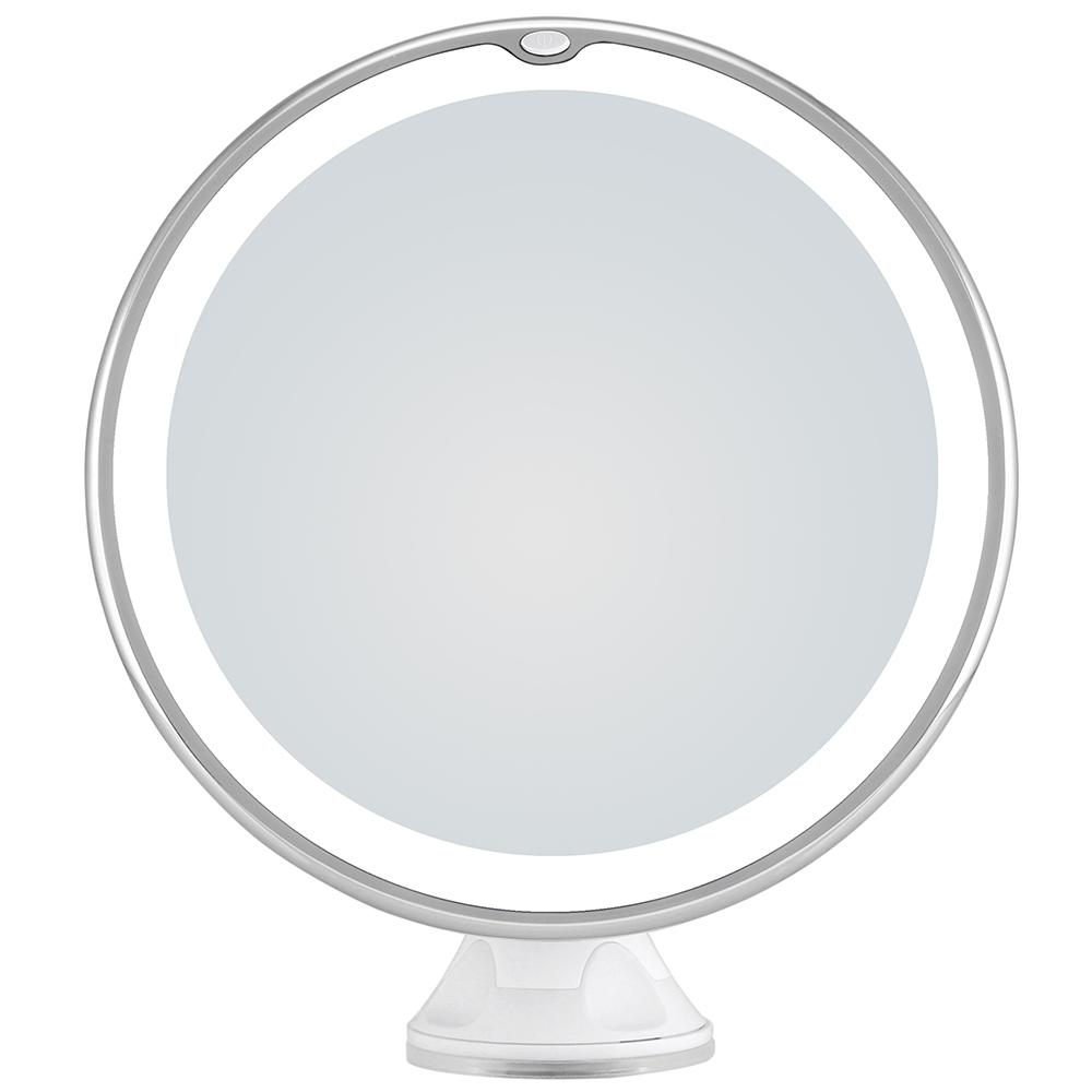 10x Magnifying Led Lighted Makeup Mirror With Suction Cup