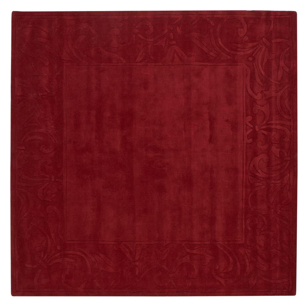 Home Decorators Collection Cyrus Red 7 ft. 9 in. Square Area Rug