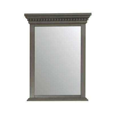 Hastings 24 in. W x 32 in. H Framed Mirror in French Gray