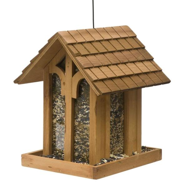 Mountain Chapel Wood Bird Feeder - 3.5 lb. Capacity