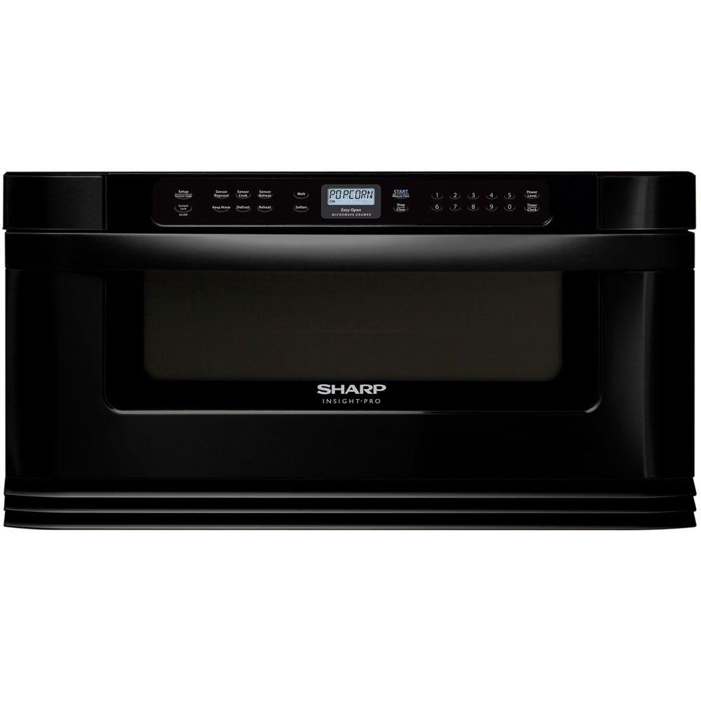 Sharp Refurbished Insight Pro 1.0 cu. ft. Microwave Drawer in Black with Sensor Cooking-DISCONTINUED