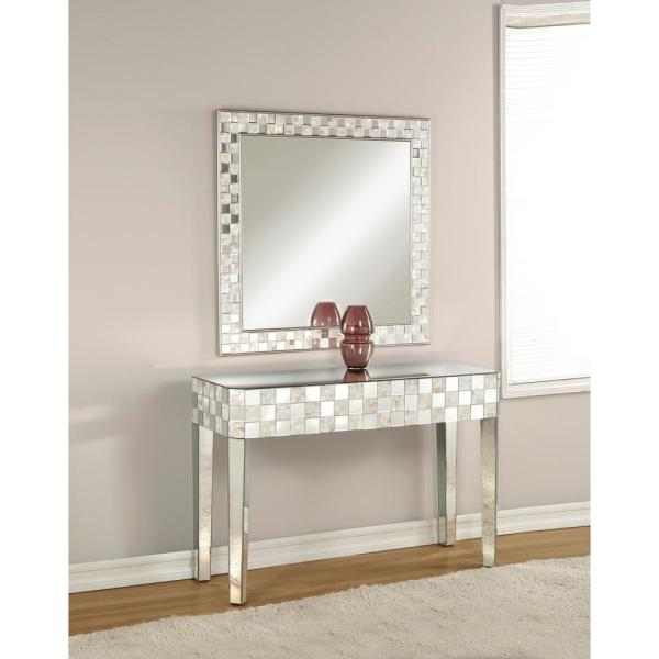 Acme Furniture Nasa Mirrored Accent Mirror 97388 The Home Depot
