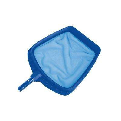 20.5 in. Heavy-Duty Blue Plastic Swimming Pool Leaf Skimmer Head