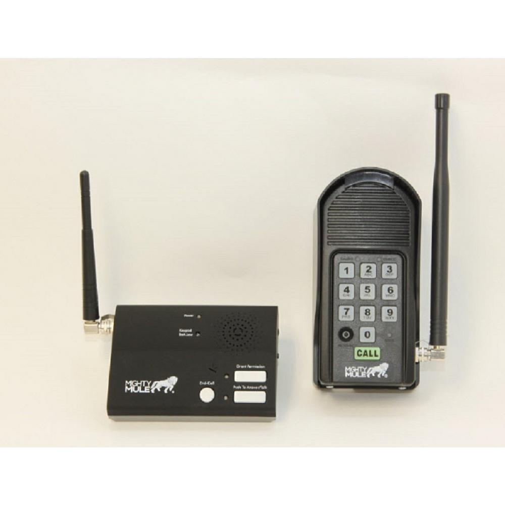 Wireless Intercom Keypad and Base Station Kit for Gate Openers