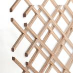 18-Bottle Trimmable Wine Rack Lattice Panel Inserts in Unfinished Solid North American Hard Maple