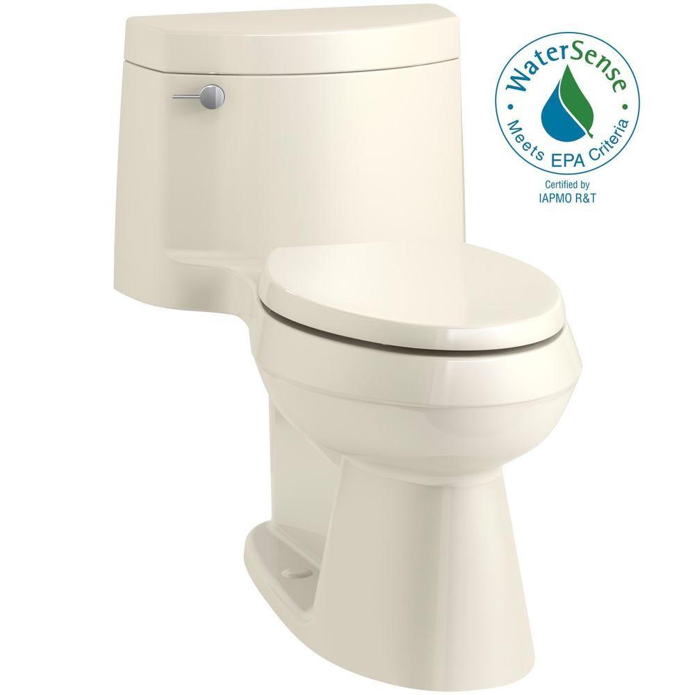 Cimarron 1-piece 1.28 GPF Single Flush Elongated Toilet in Almond