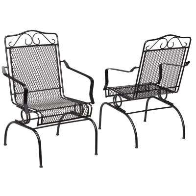 Nantucket Rocking Metal Outdoor Dining Chair (2-Pack)
