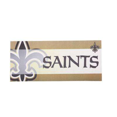 New Orleans Saints 22 in. x 10 in. Decorative Insert Mat
