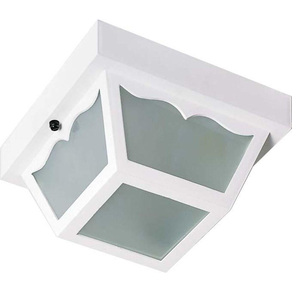 Tony 1-Light White Flush Mount