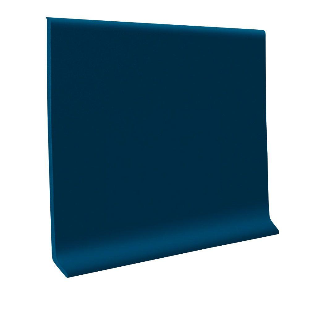 Base Cove For Accent Wall: ROPPE 700 Series Deep Navy 4 In. X 1/8 In. X 48 In