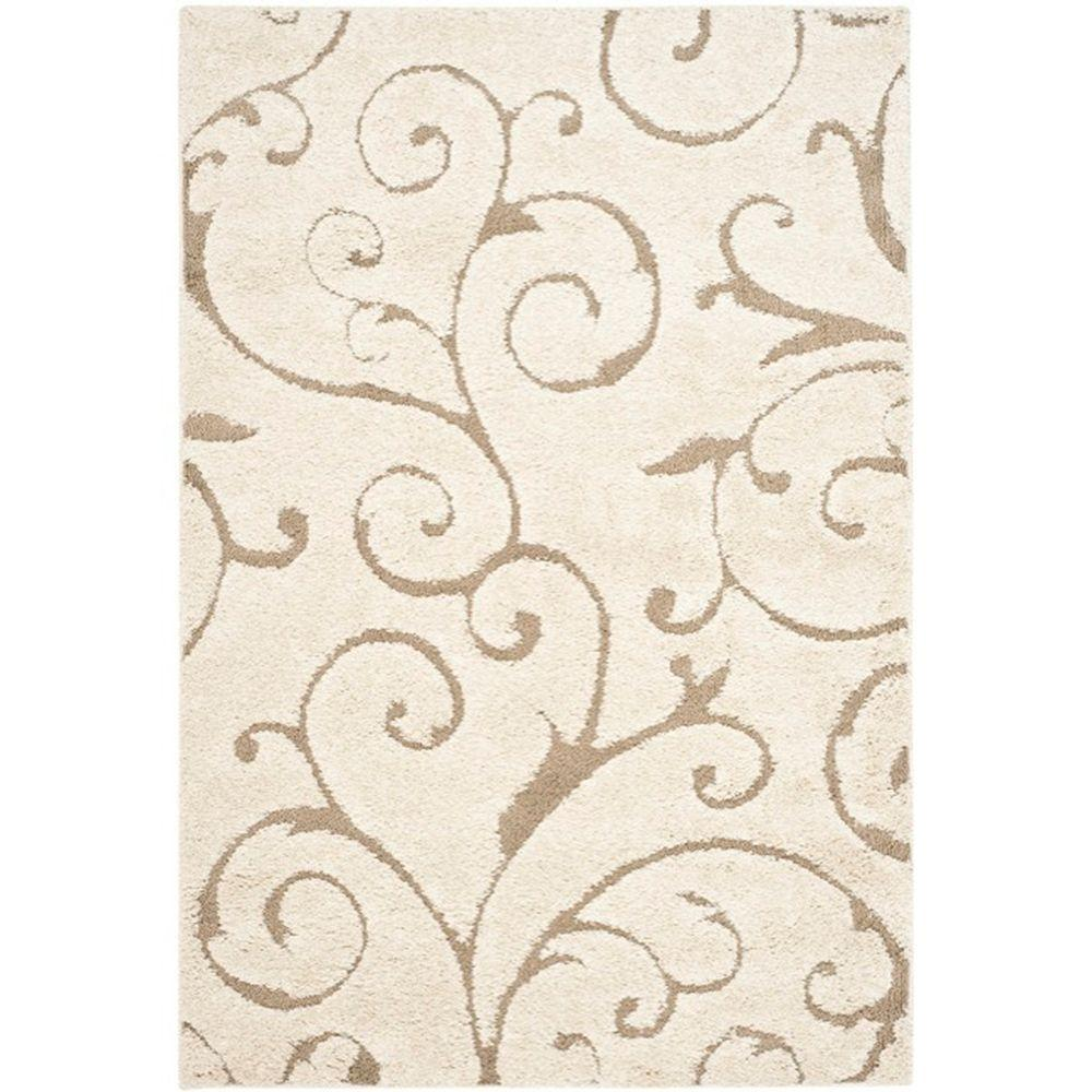 Safavieh Florida Cream Beige 9 Ft 6 In X 13 Area Rug Sg455 1113 10 The Home Depot