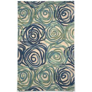 Flora Daze Playa 9 ft. x 12 ft. Rectangle Area Rug by