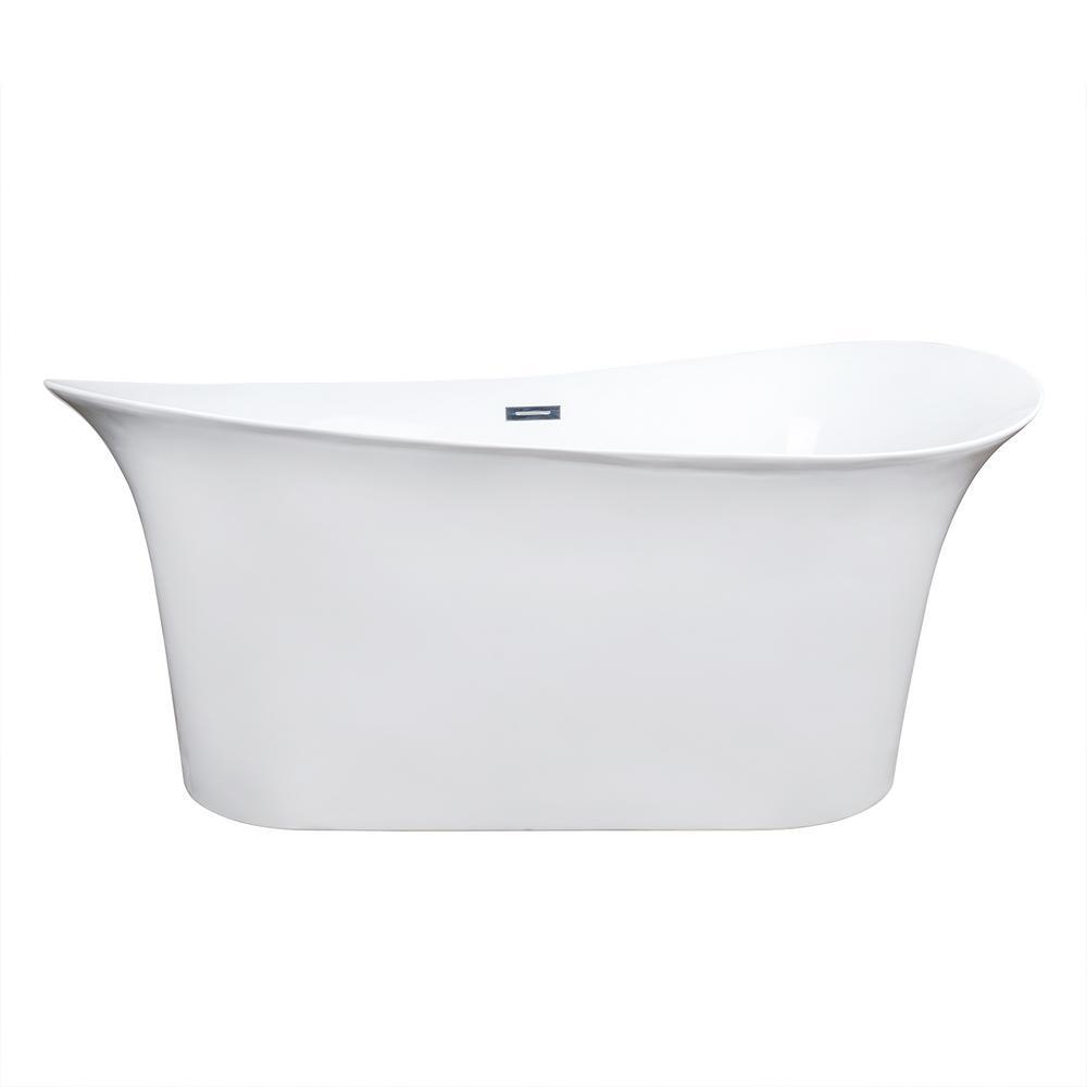 Akdy ft fiberglass flatbottom non whirlpool for Fiberglass garden tub