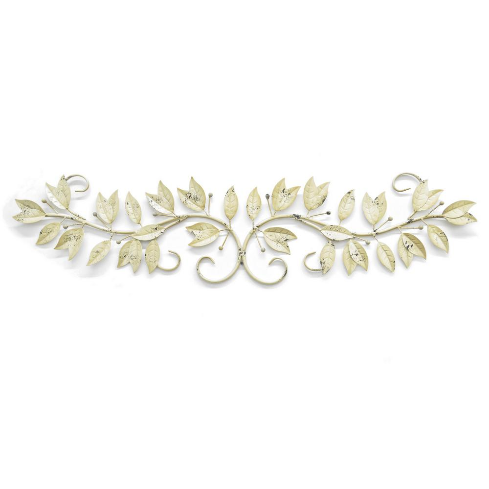 12 in. Metal Leaf Wall Art