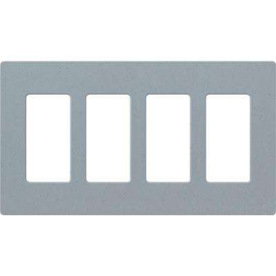 Claro 4 Gang Decorator Wallplate, Bluestone