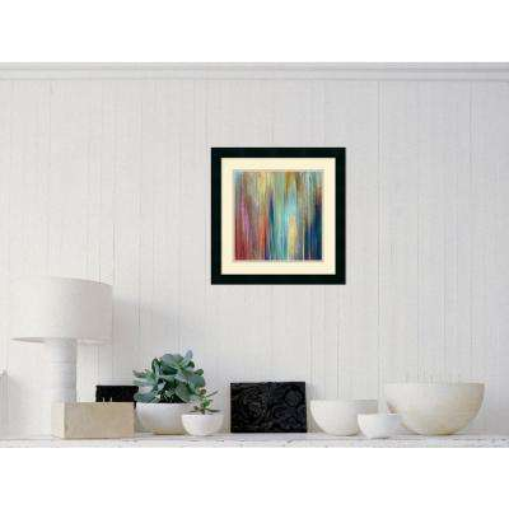 "18 in. H x 18 in. W ""Sunset Falls II"" by John Butler Framed Art Print"