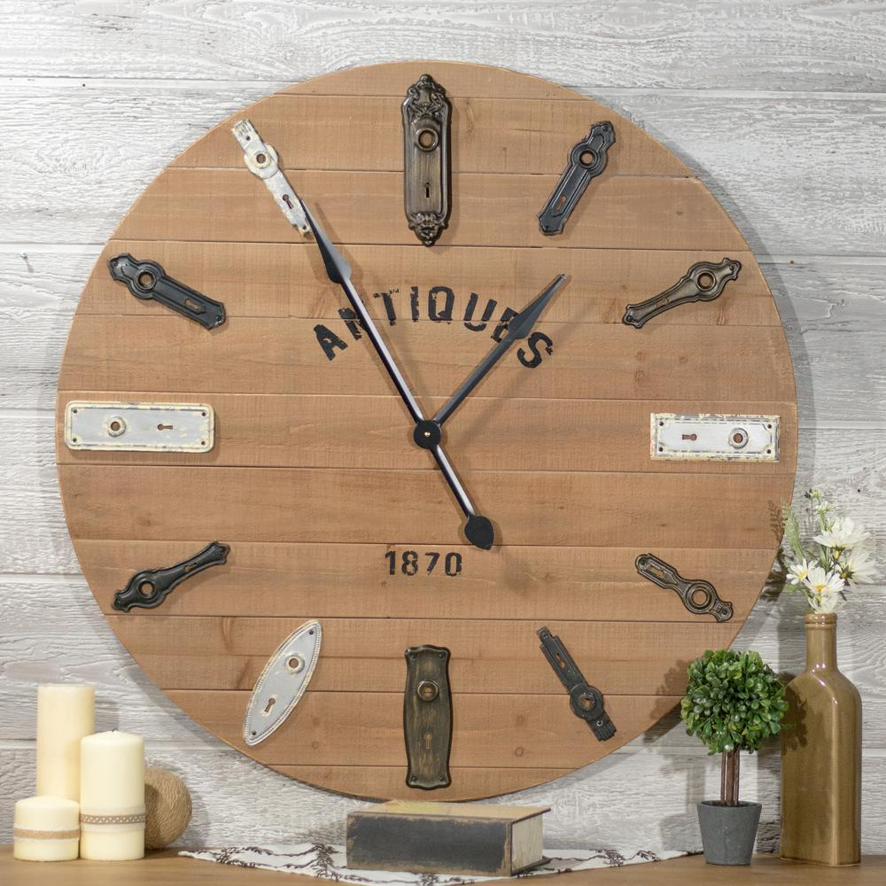 Keyhole wall clock mt2603 the home depot null keyhole wall clock amipublicfo Image collections