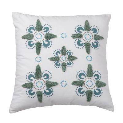 Whistler 26 in. x 26 in. Floral Pillow Cover