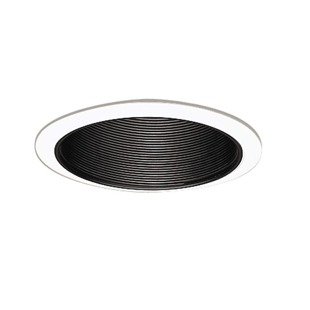 Black Recessed Ceiling Light Baffle And White Trim