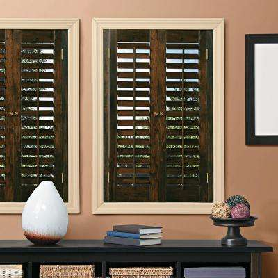 Interior Plantation Shutters Home Depot interior plantation shutters home depothome depot window archives windows with blinds inside Plantation Walnut Real Wood Interior Shutter