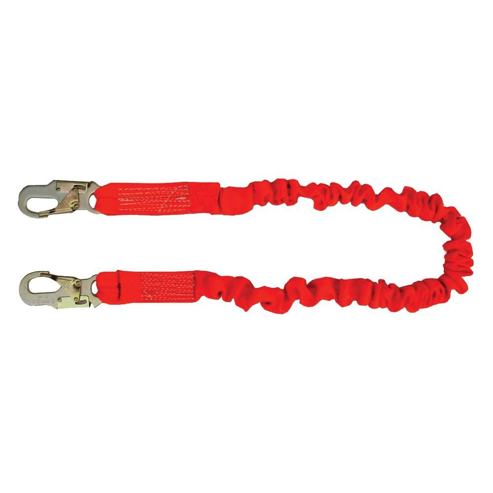 Guardian Fall Protection 4.5 ft. to 6 ft. Single Leg Stretch Lanyard