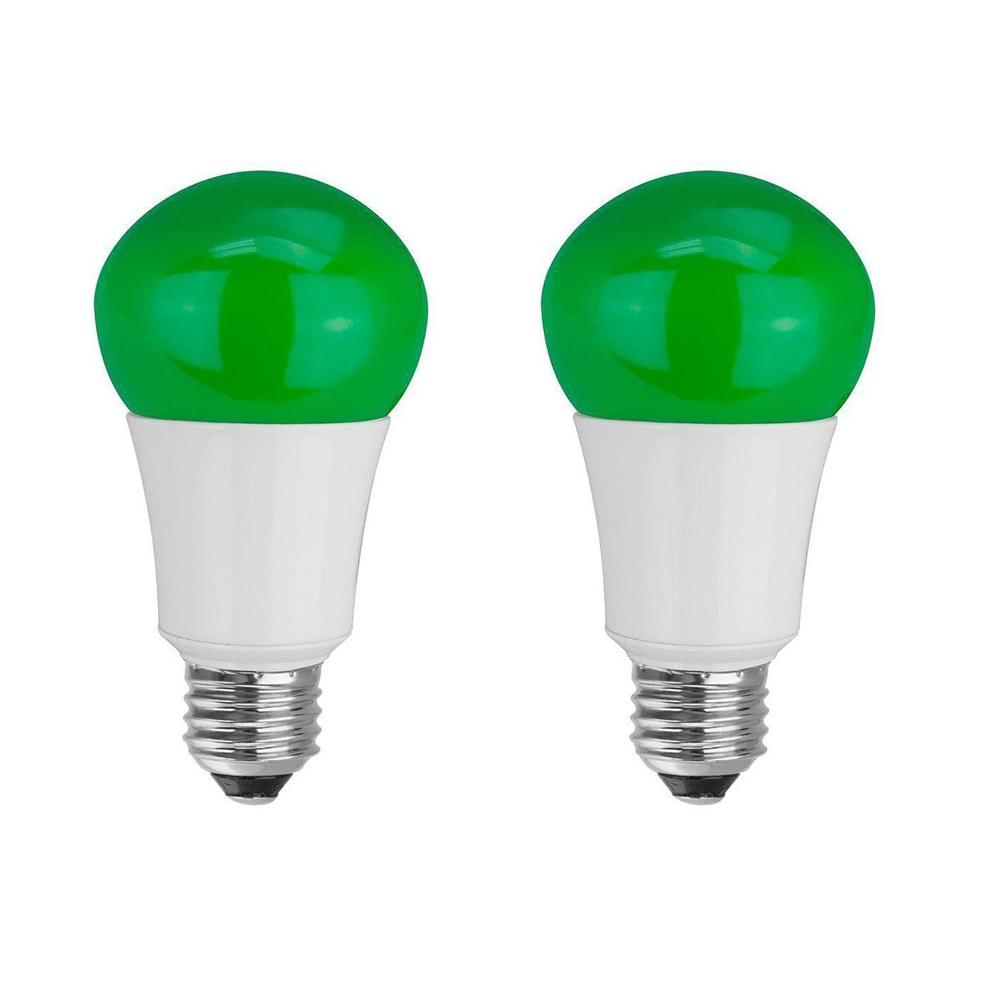 TCP 40W Equivalent A15 Household LED Light Bulbs, Green (2-Pack ...