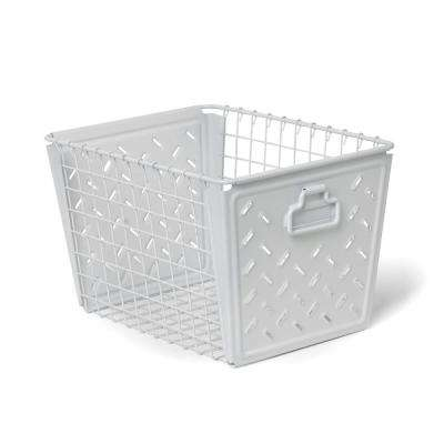 Macklin Medium Metal Basket in White