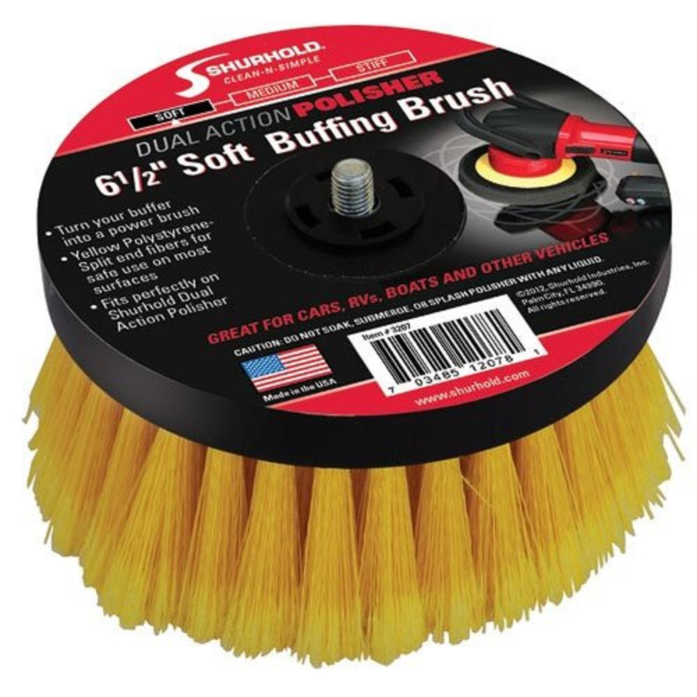Shurhold 6.5 in. Stiff Brush for Dual Action Polisher