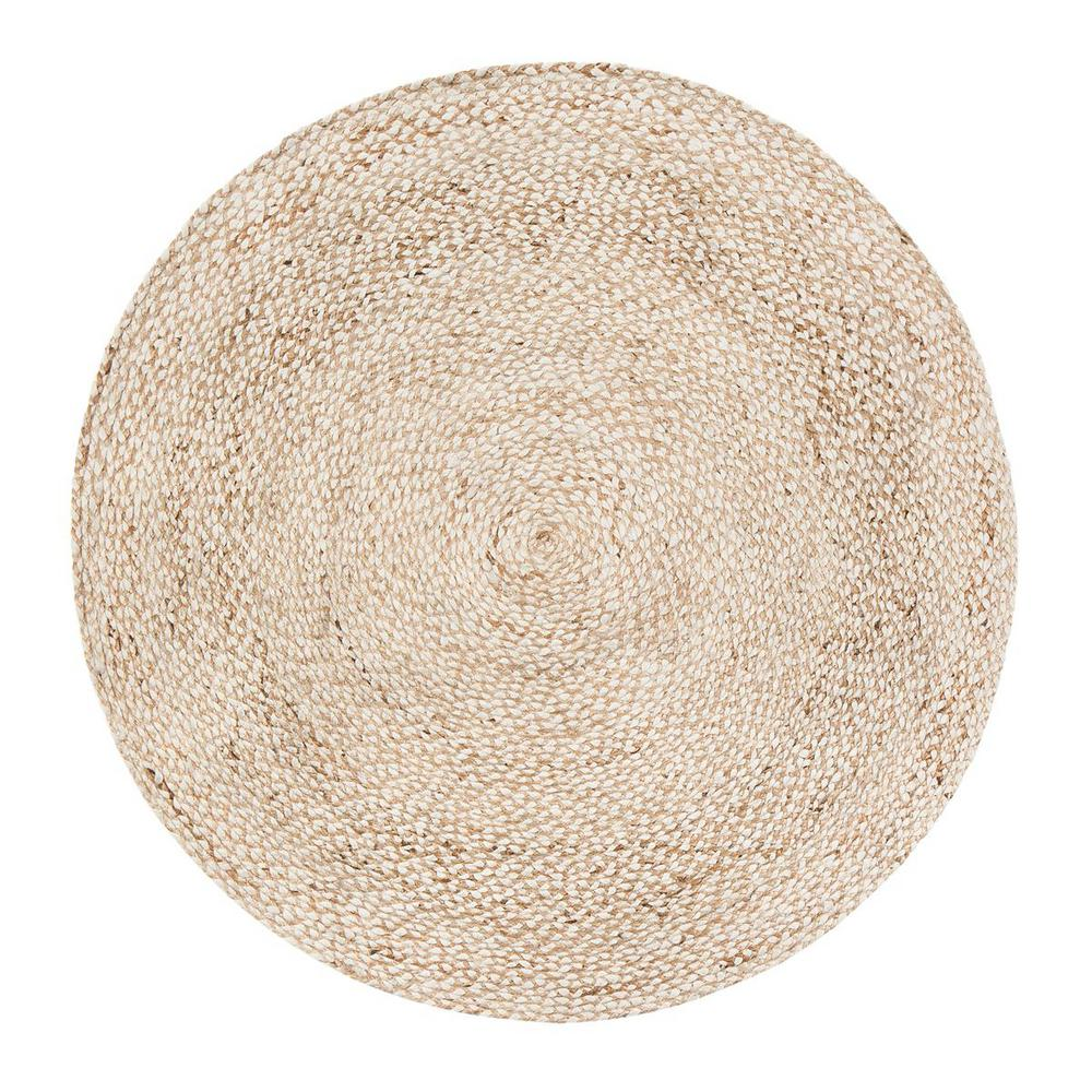 Speckled Hen Tan 6 ft. Round Area Rug