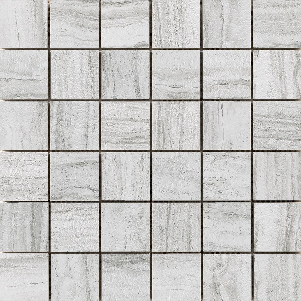 Terrane Ivory 11.73 in. x 11.73 in. x 10 mm Porcelain Mesh-Mounted Mosaic Tile (0.97 sq. ft.)