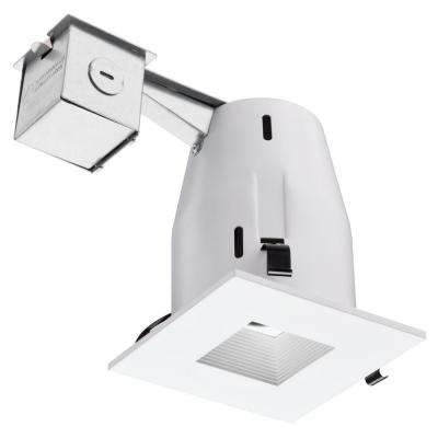 4 in. Recessed GU10 Matte White Square Baffle Kit