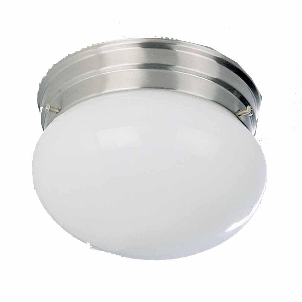 Lenor 2-Light Brushed Nickel Incandescent Wall Flush Mount