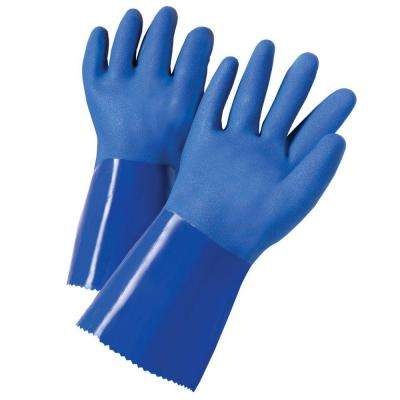 Large PVC-Coated Chemical Gloves