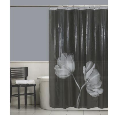 Tulip Photoreal PEVA Waterproof 70 in. x 72 in. Shower Curtain