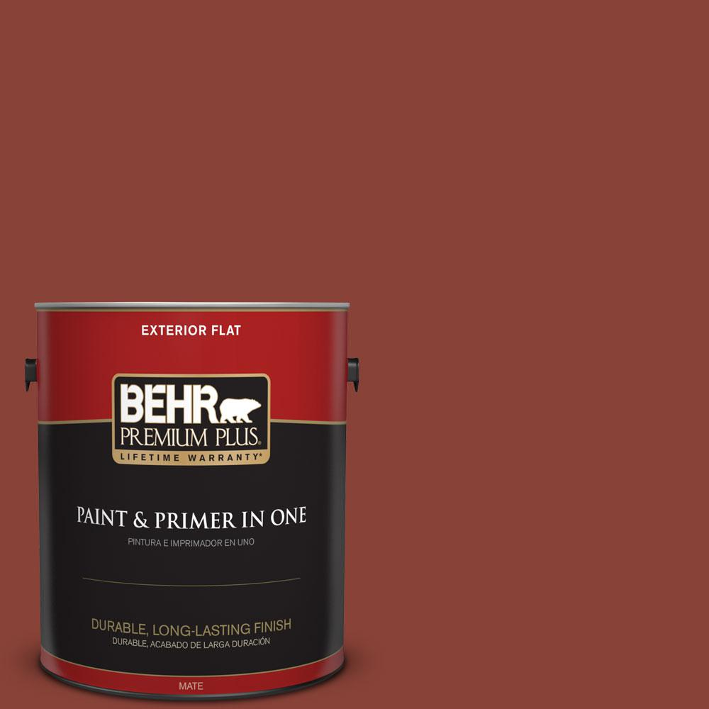 BEHR Premium Plus 1-gal. #PPF-30 Deep Terra Cotta Flat Exterior Paint