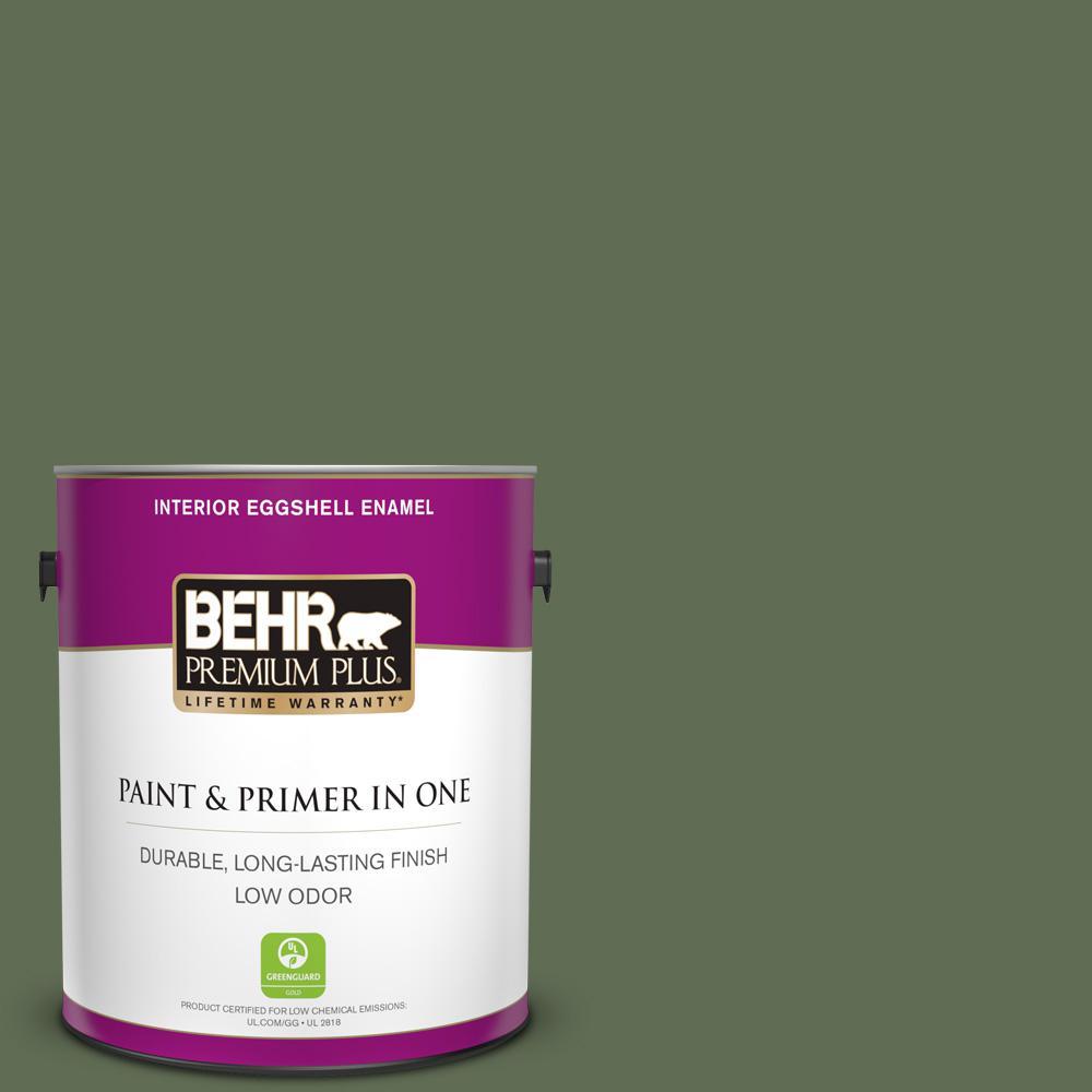 Behr Premium Plus 1 Gal Ecc 38 3 Sea Fern Eggshell Enamel Low Odor Interior Paint And Primer In One 230001 The Home Depot