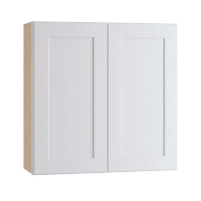 Newport Assembled 30 x 30 x 12 in. Plywood Shaker Wall Kitchen Cabinet Soft Close in Painted Pacific White