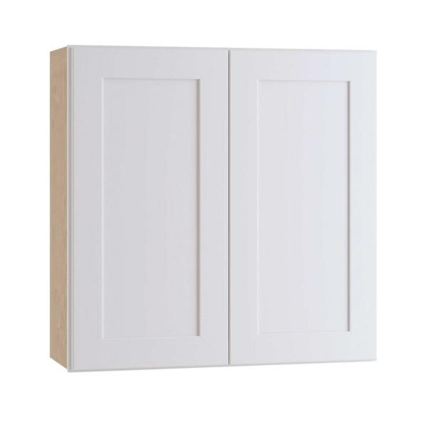 Home Decorators Collection Newport Assembled 33 X 30 X 12 In Plywood Shaker Wall Kitchen Cabinet Soft Close In Painted Pacific White W3330 Npw The Home Depot