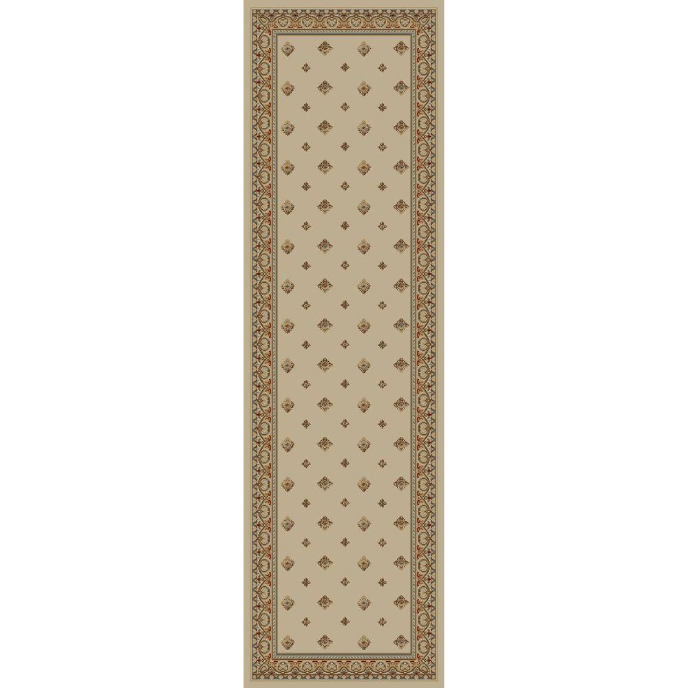 Ankara Pin Dot Ivory 2 ft. 2 in. x 7 ft.