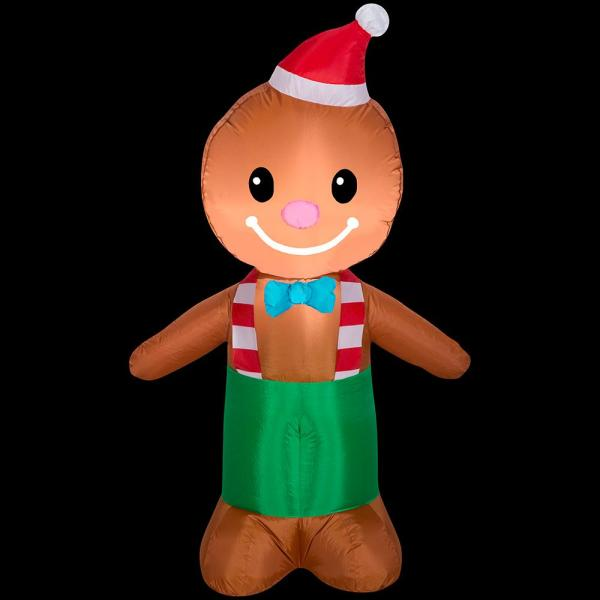 3.5 ft. Tall Airblown-Gingerbread Man-SM Inflatable