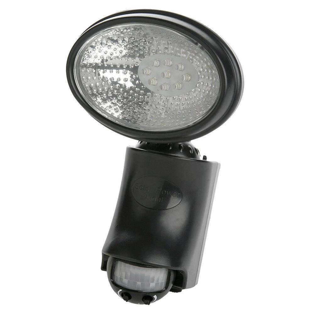 6.3-Watt 120-Degree Black Motion Activated Outdoor Integrated LED Dusk to Dawn