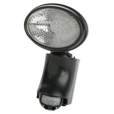 6.3-Watt 120-Degree Black Motion Activated Outdoor Integrated LED Dusk to Dawn Security Flood Light