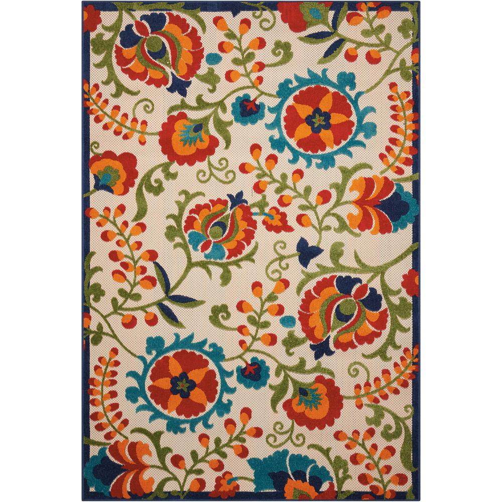 Aloha Multi 5 ft. x 7 ft. Indoor/Outdoor Area Rug