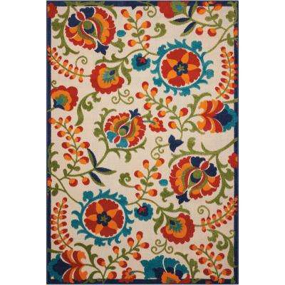 Aloha Multi 10 Ft X 13 Indoor Outdoor Area Rug