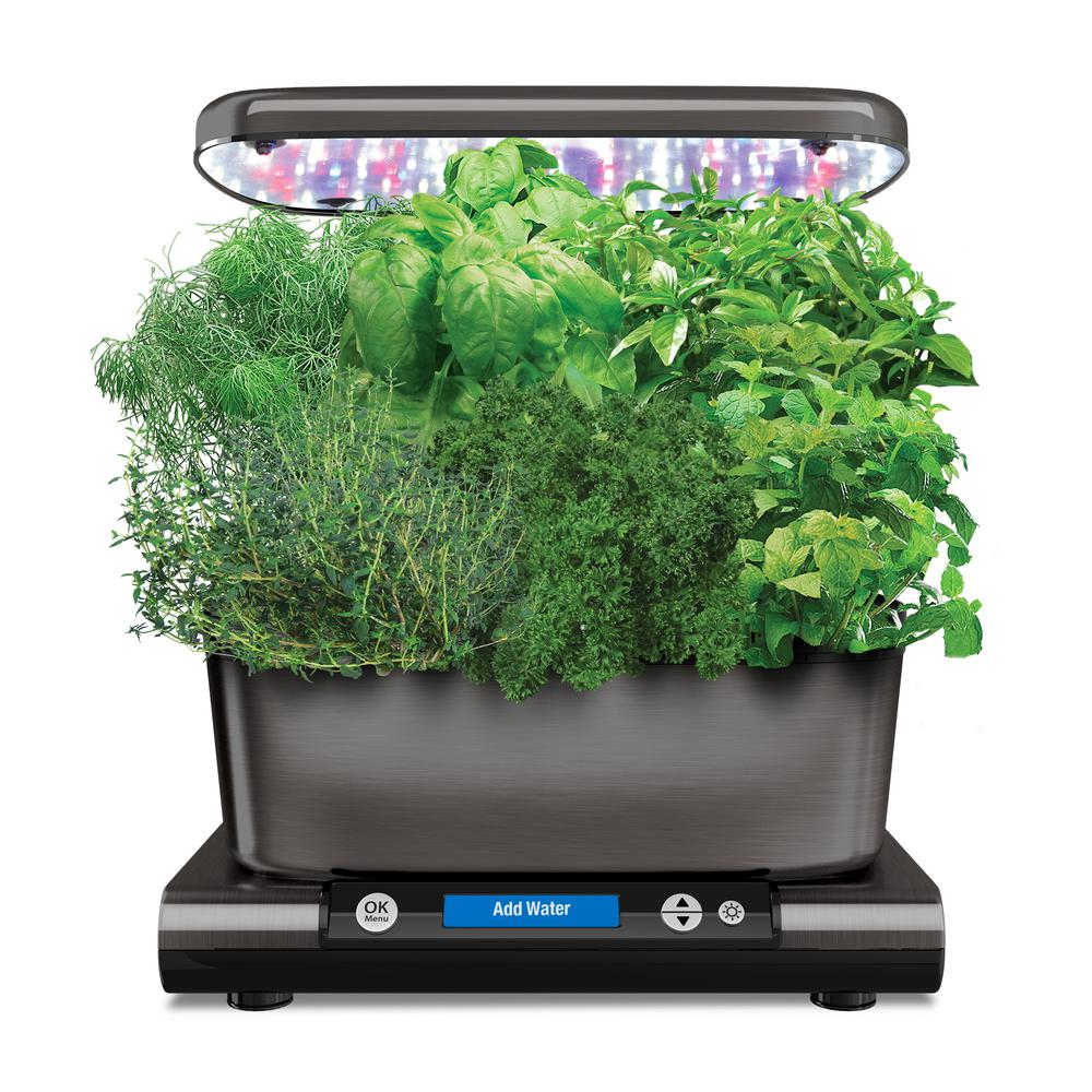 AeroGarden Harvest Elite with Gourmet Herb Seed Pod Kit in Platinum