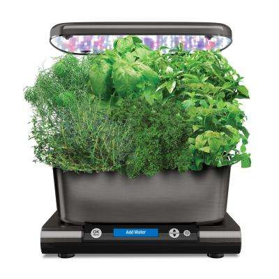 AeroGarden Harvest Elite with Gourmet Herb Seed Pod Kit in Platinum Stainless
