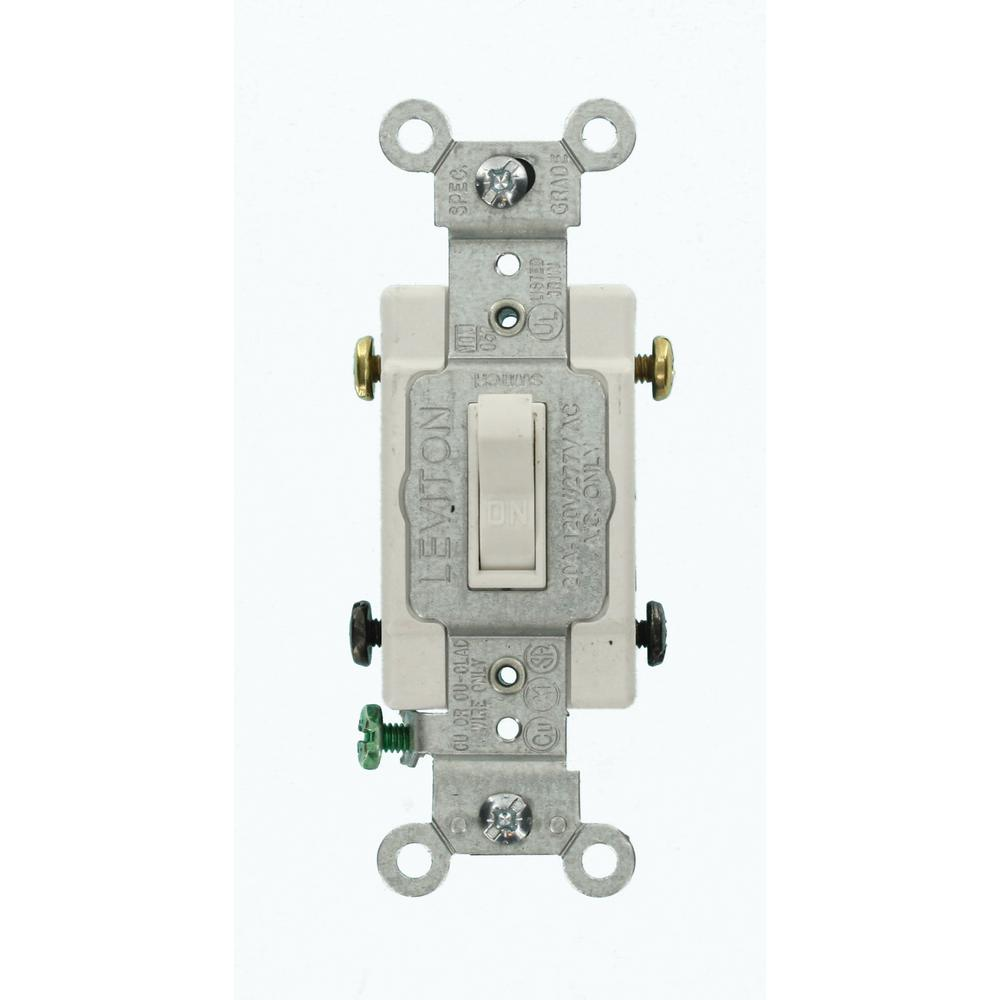 Leviton 20 Amp Commercial Grade Double-Pole Toggle Switch
