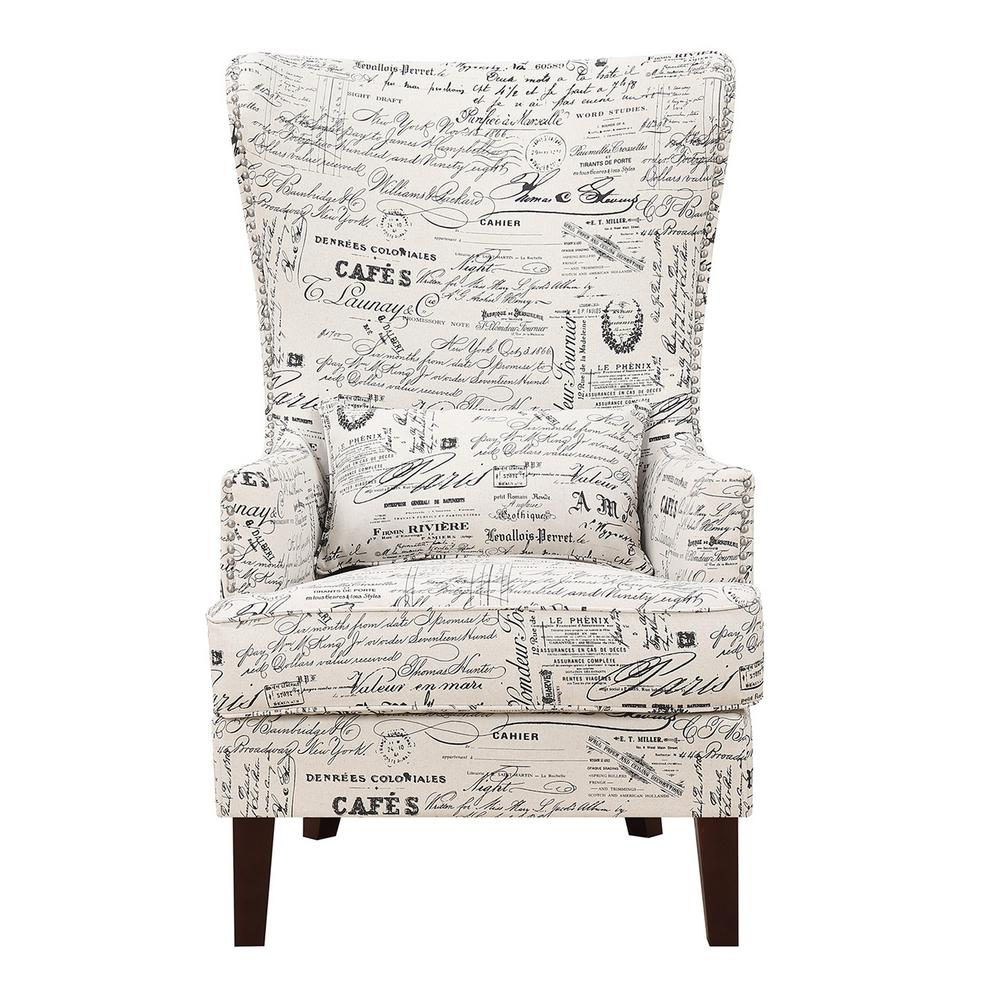 Kegan French Script Accent Chair