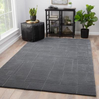 Quiet Shade 5 ft. x 8 ft. Geometric Area Rug